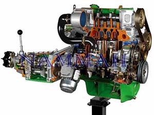 RWD Turbo Diesel Engine with Gearbox