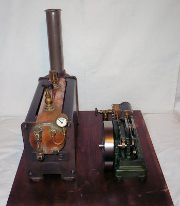 Steam Engine Model with Boiler