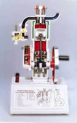 4 stroke petrol engine model