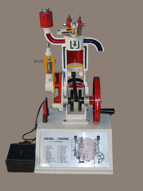 4 stroke diesel engine model